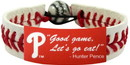 Philadelphia Phillies Bracelet Classic Baseball Hunter Pence Good Game Let's Go Eat