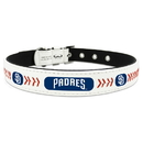 San Diego Padres Pet Collar Classic Baseball Leather Size Small
