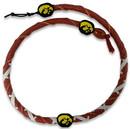 Iowa Hawkeyes Classic Spiral Football Necklace