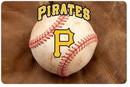 Pittsburgh Pirates Pet Bowl Mat Classic Baseball Size Large