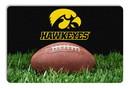 Iowa Hawkeyes Classic  Football Pet Bowl Mat - L