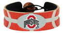 Ohio State Buckeyes Team Color Basketball Bracelet