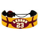 Cleveland Cavaliers LeBron James Team Color NBA Jersey Bracelet