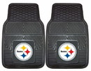 Pittsburgh Steelers Car Mats Heavy Duty 2 Piece Vinyl