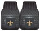 New Orleans Saints Car Mats Heavy Duty 2 Piece Vinyl