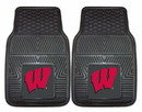 Wisconsin Badgers Heavy Duty 2-Piece Vinyl Car Mats