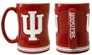 Indiana Hoosiers Coffee Mug - 14oz Sculpted Relief