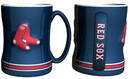 Boston Red Sox Coffee Mug - 14oz Sculpted Relief - Blue