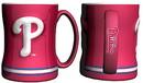 Philadelphia Phillies Coffee Mug - 14oz Sculpted Relief