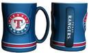Texas Rangers Coffee Mug - 14oz Sculpted Relief - Blue
