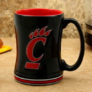 Cincinnati Bearcats Coffee Mug 14oz Sculpted Relief