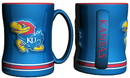 Kansas Jayhawks Coffee Mug - 14oz Sculpted Relief