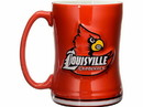 Louisville Cardinals Coffee Mug 14oz Sculpted Relief Special Order