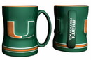 Miami Hurricanes Coffee Mug - 14oz Sculpted Relief