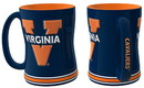 Virginia Cavaliers Coffee Mug - 14oz Sculpted Relief
