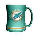 Miami Dolphins Coffee Mug - 14oz Sculpted Relief