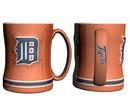 Detroit Tigers Coffee Mug - 14oz Sculpted Relief - Orange