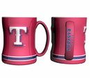 Texas Rangers Coffee Mug - 14oz Sculpted Relief - Red
