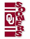 Oklahoma Sooners Flag Garden Style Applique Sculpted