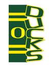 Oregon Ducks Garden Flag Applique Sculpted