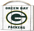 Green Bay Packers Small Plaque - Weathered Logo