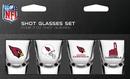 Arizona Cardinals Shot Glass 2oz 4 Pack