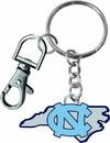 North Carolina Tar Heels Keychain State Design - Special Order