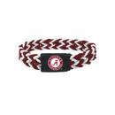 Alabama Crimson Tide Bracelet Braided Maroon and White