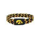 Iowa Hawkeyes Bracelet Braided Black and Yellow