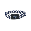Dallas Cowboys Bracelet Braided Navy and White