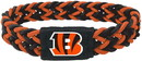 Cincinnati Bengals Bracelet Braided Black and Orange