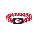 Kansas City Chiefs Bracelet Braided Red and White