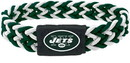 New York Jets Bracelet Braided Dark Green and White