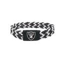 Oakland Raiders Bracelet Braided Black and White
