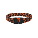 San Francisco Giants Bracelet Braided Black and Orange