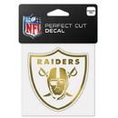 Las Vegas Raiders Decal 4x4 Perfect Cut Metallic Gold - Special Order