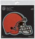 Cleveland Browns Decal 6x6 Glitter