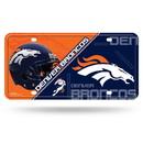 Denver Broncos License Plate Metal