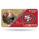San Francisco 49ers License Plate Metal