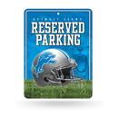 Detroit Lions Sign Metal Parking