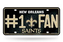 New Orleans Saints License Plate #1 Fan