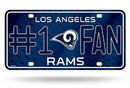 Los Angeles Rams License Plate #1 Fan