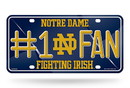 Notre Dame Fighting Irish License Plate #1 Fan