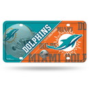 Miami Dolphins License Plate Metal