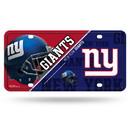 New York Giants License Plate Metal