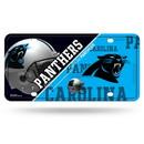 Carolina Panthers License Plate Metal