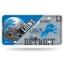 Detroit Lions License Plate Metal