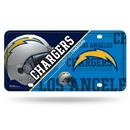 Los Angeles Chargers License Plate Metal