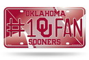 Oklahoma Sooners License Plate #1 Fan Alternate