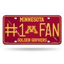 Minnesota Golden Gophers License Plate #1 Fan Alternate Design